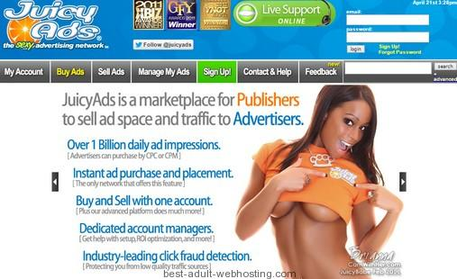 Earn money with adult website and juicyads